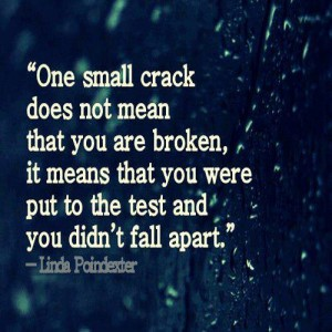 One small crack does not mean