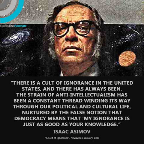 asimov ignorance knowledge