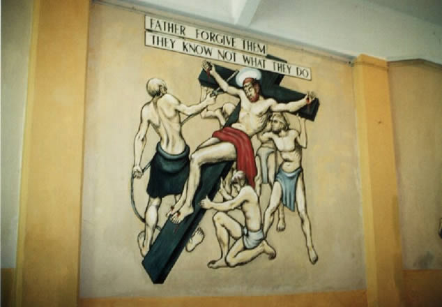 Crucifixion Changi mural Stanley Warren
